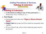 coding procedures services pathology laboratory 80000 89999