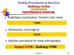 coding procedures services radiology section 70000 79999 performance exercise