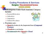 coding procedures services surgery musculoskeletal system 20000 299991