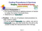coding procedures services surgery musculoskeletal system 20000 299994