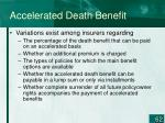accelerated death benefit1