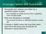 coverage options and guarantees1