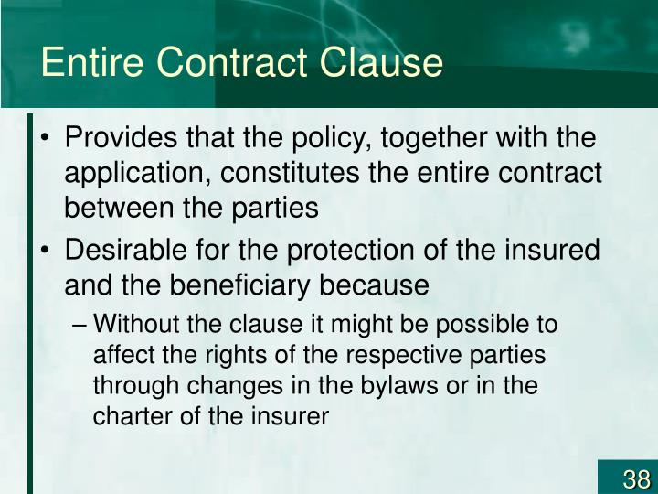 Entire Contract Clause