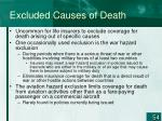 excluded causes of death