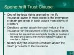 spendthrift trust clause