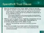 spendthrift trust clause1