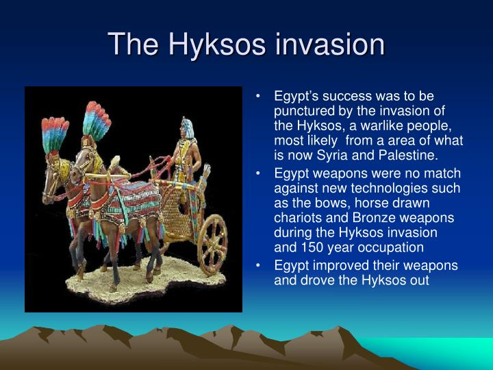 The Hyksos invasion