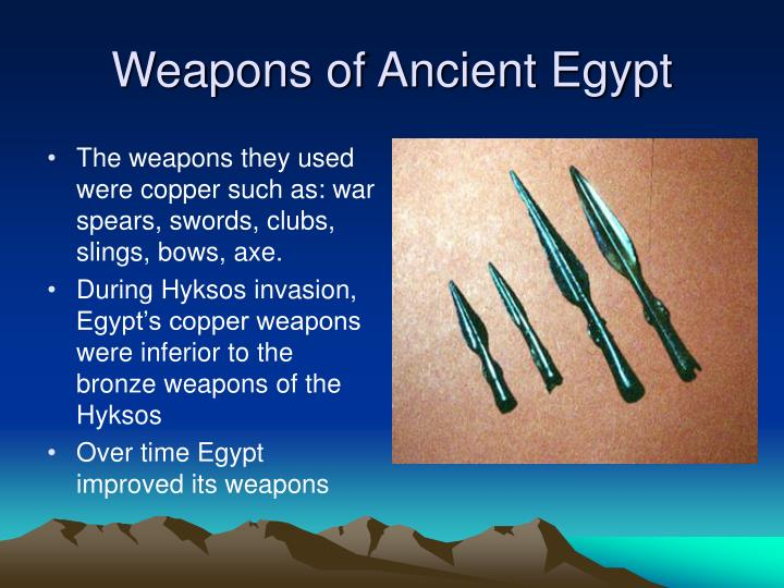 Weapons of Ancient Egypt