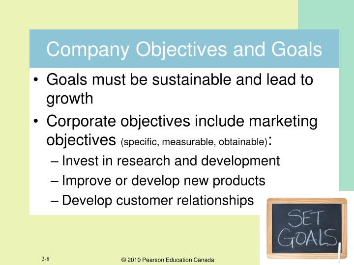 Company Objectives and Goals