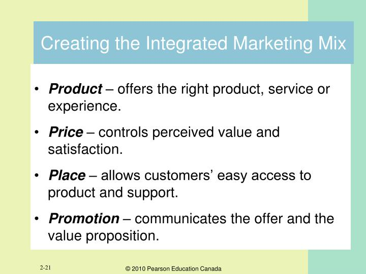 Creating the Integrated Marketing Mix