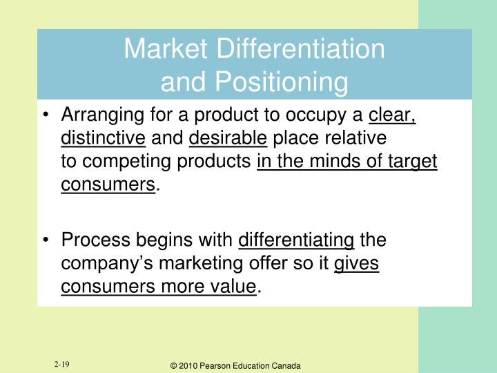 Market Differentiation