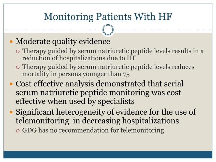 Monitoring Patients With HF