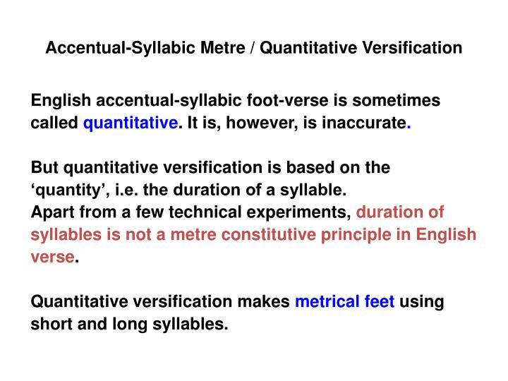 Accentual-Syllabic