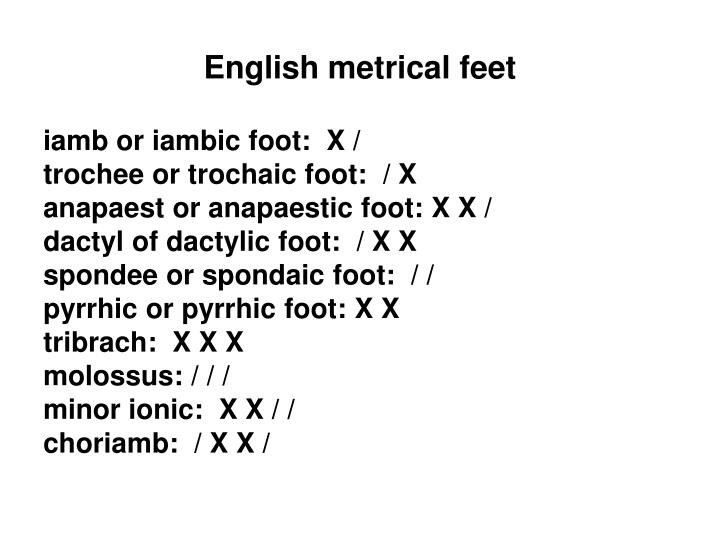English metrical feet