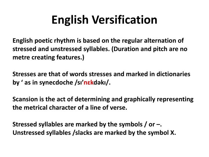 English Versification