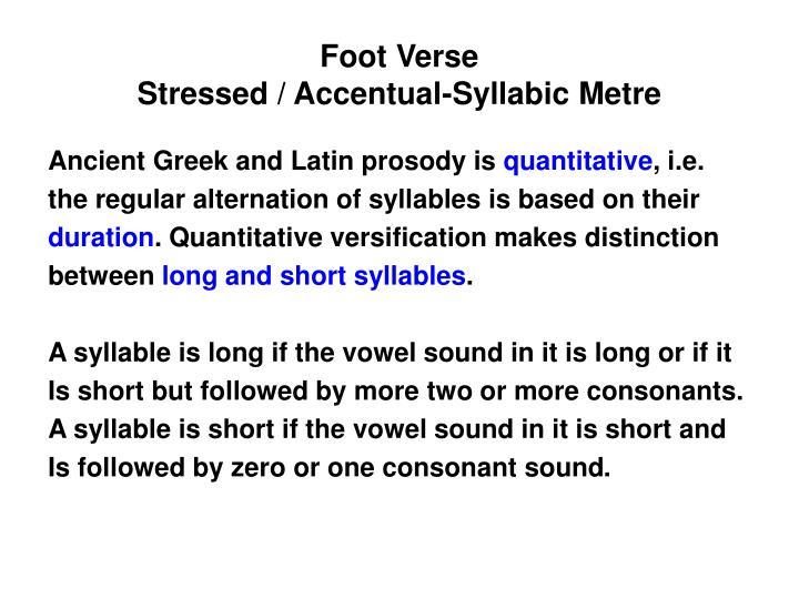 Foot Verse