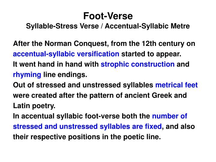 Foot-Verse