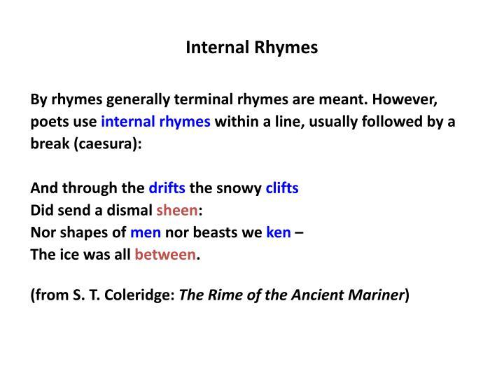 Internal Rhymes