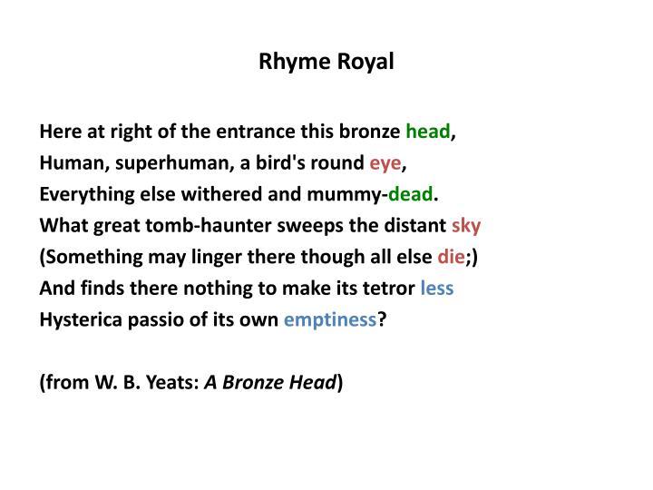 Rhyme Royal