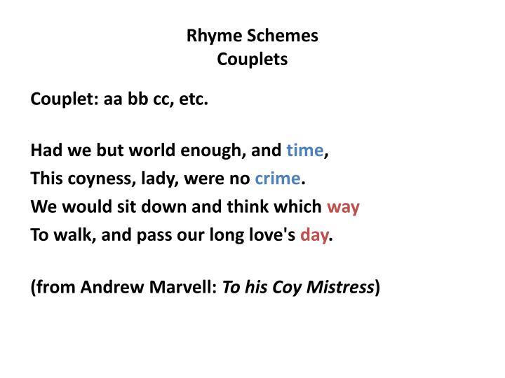 Rhyme Schemes