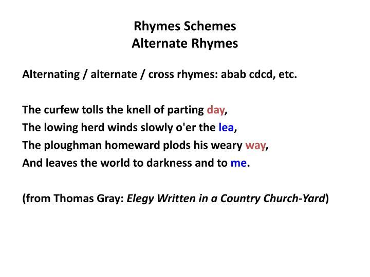 Rhymes Schemes