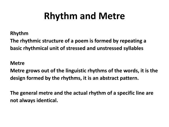 Rhythm and