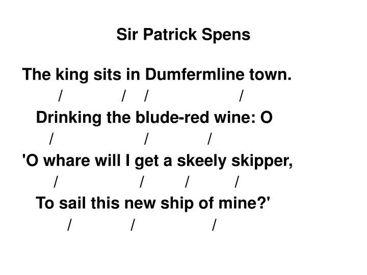 Sir Patrick Spens
