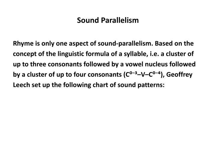Sound Parallelism