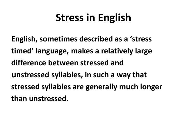 Stress in English