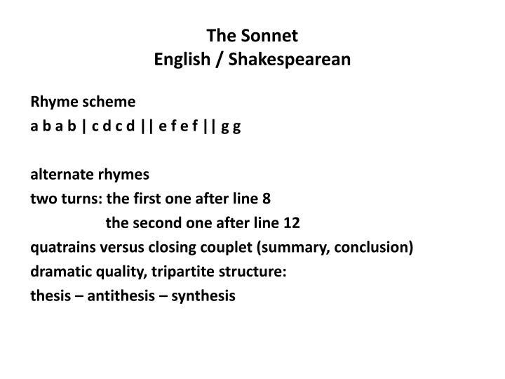 The Sonnet