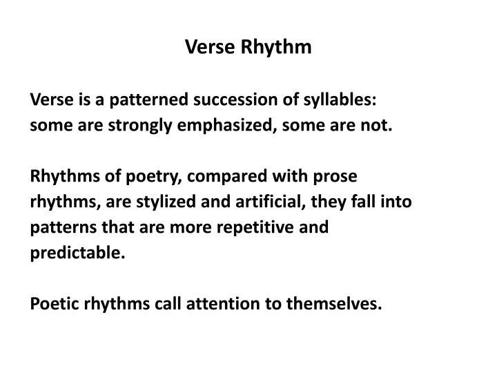 Verse Rhythm