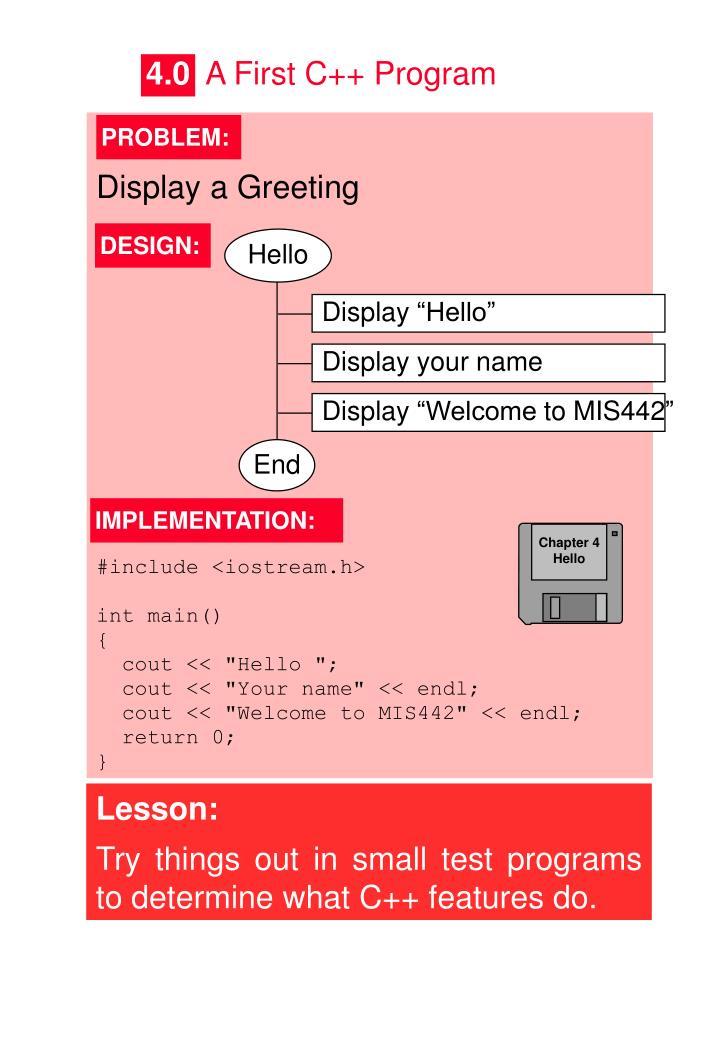 Display a Greeting