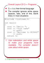 overall layout of c programs