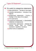 types of statement