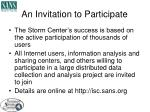 an invitation to participate