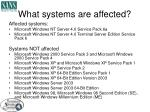 what systems are affected