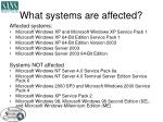 what systems are affected5