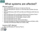 what systems are affected8