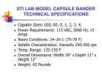 sti lab model capsule bander technical specifications