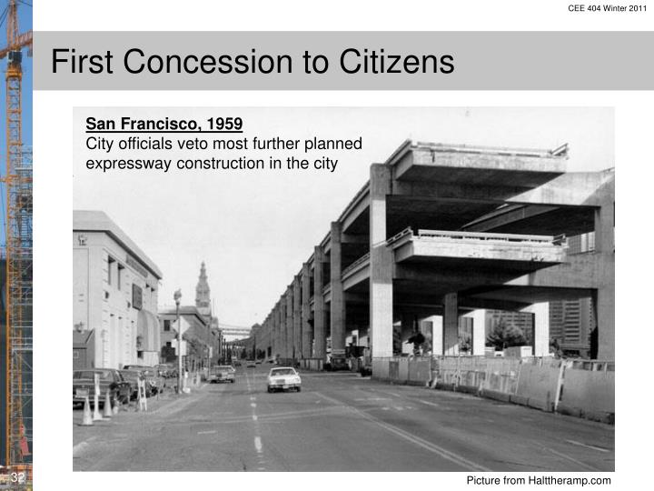 First Concession to Citizens