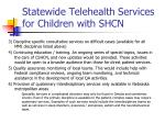 statewide telehealth services for children with shcn1