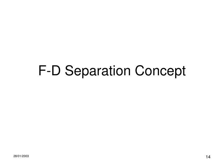 F-D Separation Concept