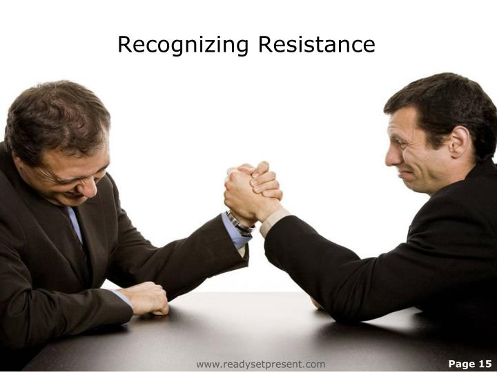 Recognizing Resistance
