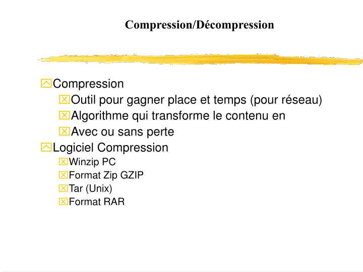 Compression/Décompression