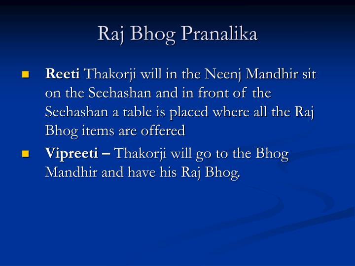 Raj Bhog Pranalika