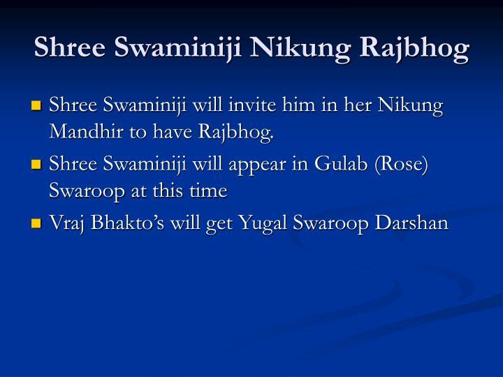 Shree Swaminiji Nikung Rajbhog