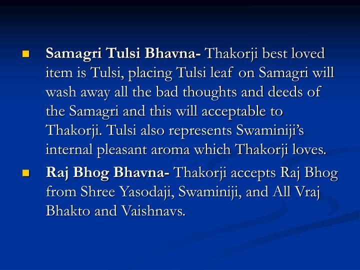 Samagri Tulsi Bhavna-