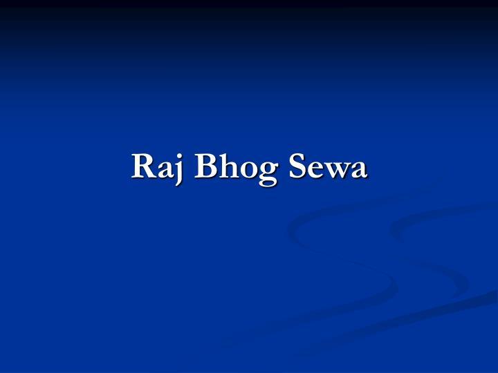 Raj Bhog Sewa