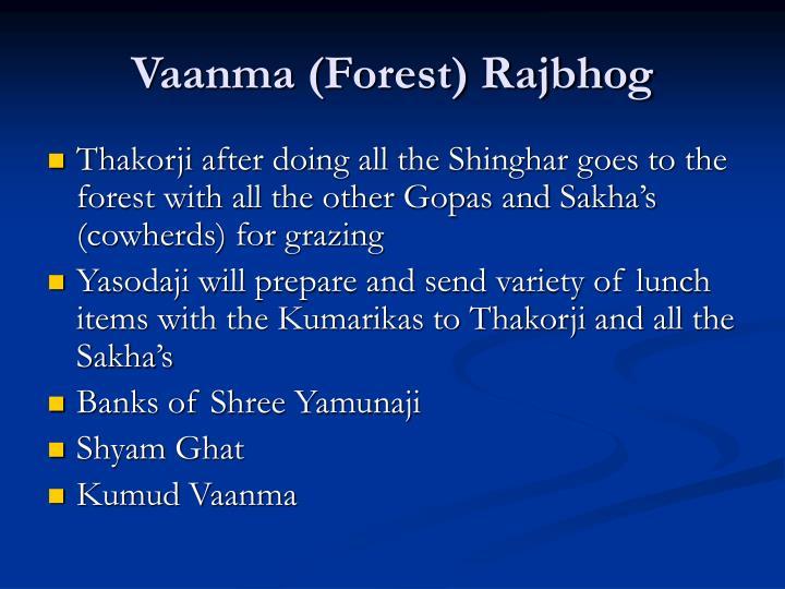 Vaanma (Forest) Rajbhog