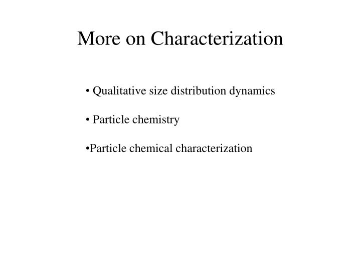 More on characterization